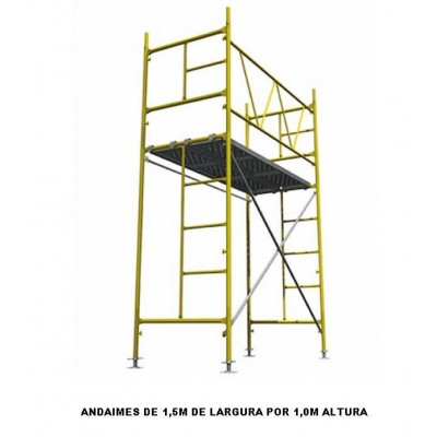 ANDAIMES TUBULARES E RODÍZIOS [ 1.00 m X 1,50 m ]