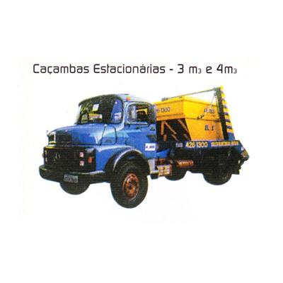 CAÇAMBAS ESTACIONÁRIAS DE - 3 m3 - 4 m4